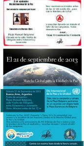 21 de Septiembre - Día Internacional de la Paz